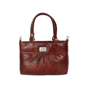 Unique pattern pure leather bag with belt  for women