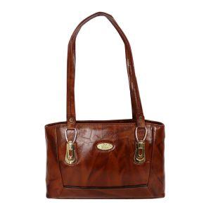 Stylish diva handbag with pure leather for ladies