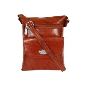 Brown pure leather hand bag for women/girls