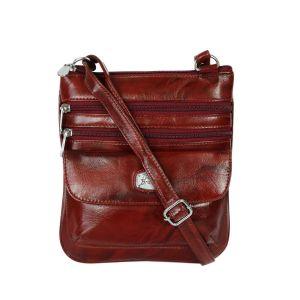 Solid pattern designer sling bag