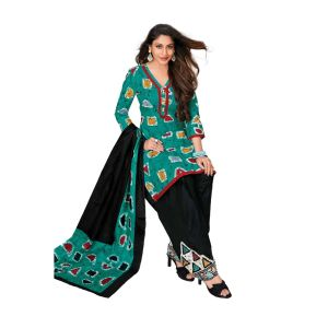 Women's printed unstiched cotton dress material