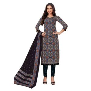 Women's printed stylish cotton dress material