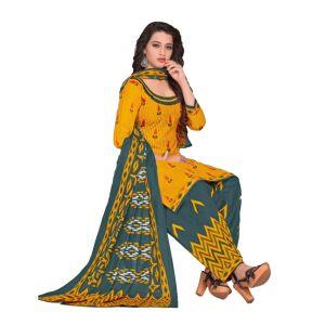 Women's cotton unstiched patiyala dress material