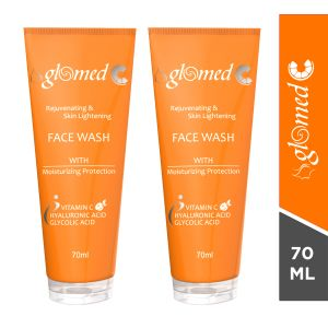 Glomed C Skin Lightening Face Wash-70ml (pack of 2)