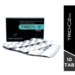 Trichoz Plus Hair Growth Enhancer Tablets-10 tablets