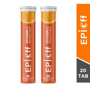 Epieff Vitamin C Skin Lightening Effervescent Tablets (Pack of 2)