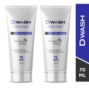 Dwash Creamy Moisturising Face Wash (Pack of 2)