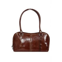 Unique pattern stylish pure leather hand bag for women/girls