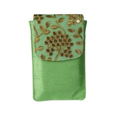 Mobile pouch- Traditional raw silk bag for women/girls