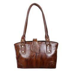 Unique pure leather bag for women with belt