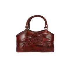 Unique pattern pure leather bag for women with belt