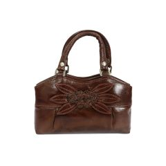 Flower pattern pure leather bag for women/girls