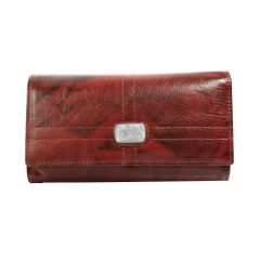Solid pattern pure leather wallet for women/girls
