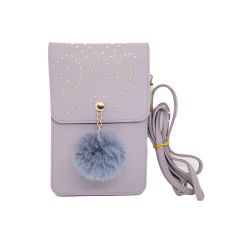 Pom Pom mobile pouch with string for Girls/Woman