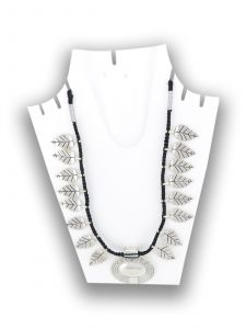 Antique Oxidised Silver Plated Jewelry Set with Black Thread Color