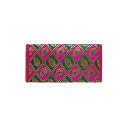 Traditional raw silk traditional Mobile pouch bag for women/girls