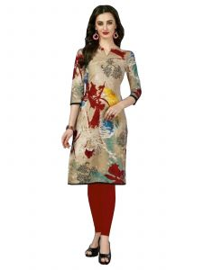 Cotton Printed Kurti Fabric(Stitched)