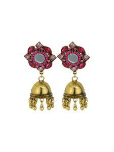 Ethnic Gold Plated Jhumkha Earrings