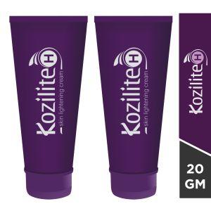 Kozilite - H Skin Lightening Cream For Dark Spots-20gm(Pack of 2)