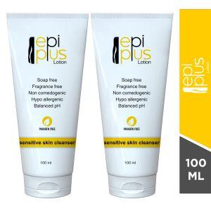 Epi Plus Soap Free cleanser for Sensitive Skin-100ml(pack of 2)